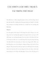 CÁC CHIẾN LƯỢC ĐIỀU TRỊ QUÁ TẢI TRONG THỂ THAO docx