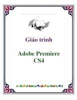 giáo trình  adobe premiere cs4