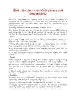 Giới thiệu phần mềm office home and student 2013