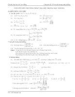 Chuyên đề PP tọa độ trong mặt phẳng