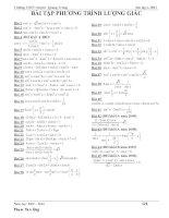 Bài tập giải phương trình lượng giác
