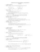 Kiểm tra đại số 10 - Chương IV pdf