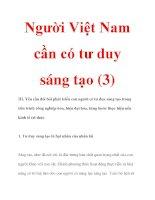 Người Việt Nam cần có tư duy sáng tạo (3) doc