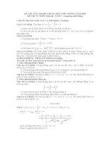 Đề và bài giải đề thi TN môn toán 2010