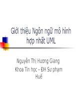 Giới thiệu Ngôn ngữ mô hình hợp nhất UML pot