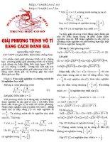 Giải phương trình vô tỉ bằng cách đánh giá potx