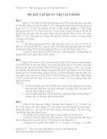 Đề 24 bài tập quản trị tài chính docx
