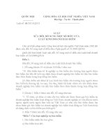 LUẬT SỬA ĐỔI, BỔ SUNG MỘT SỐ ĐIỀU CỦA LUẬT KINH DOANH BẢO HIỂM pdf
