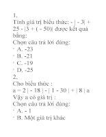 Ôn tập toán lớp 6 pdf