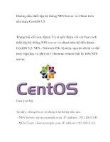 Hướng dẫn thiết lập hệ thống NFS Server và Client trên nền tảng CentOS 5.5 ppt