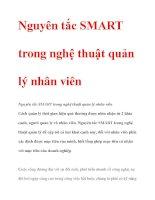 Nguyên tắc SMART trong nghệ thuật quản lý nhân viên pdf