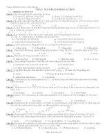 Bài tập hoá học - Trắc nghiệm HIĐROCACBON ppsx