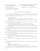 Thông báo kết quả kiểm tra chuyên môn cấp tiểu học thị xã Đồng Xoài.