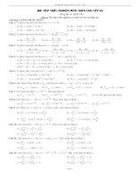 Bài tập trắc nghiệm môn Toán cao cấp A2 doc
