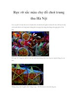 Rực rỡ sắc màu chợ đồ chơi trung thu Hà Nội pdf