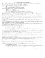 Bài tập tự luận chương III - Hóa học 10 nâng cao potx