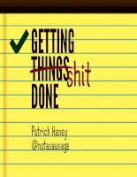 Getting things done: Short guide by Patrick Haney