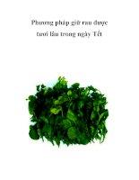 Phương pháp giữ rau được tươi lâu trong ngày Tết pdf