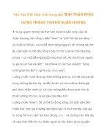 Văn học Việt Nam thời trung đại-TINH THẦN PHỤC HƯNG pps