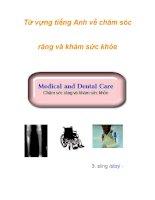 Từ vựng tiếng Anh về chăm sóc răng và khám sức khỏe docx