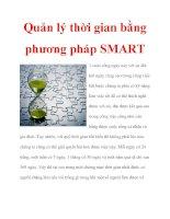 Quản lý thời gian bằng phương pháp SMART ppsx