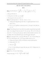 4 đề ôn thi vào lớp 10 và đáp án chi tiết
