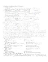 Đề thi thử cao đẳng, đại học môn tiếng anh - Đề số 7 pot
