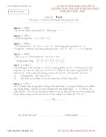 Đề+Hướng dẫn chấm vào THPT chuyên PHAN BỘI CHÂU Nghệ An