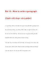 Bài 18 - How to write a paragraph ppsx
