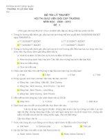 Đề lý thuyết GVG trường 09-10