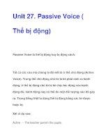 Passive Voice ( Thể bị động) pps