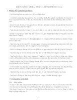 CHỨC NĂNG NHIỆM VỤ CỦA TỪNG PHÒNG BAN potx
