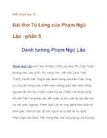 Kiến thức lớp 10 Bài thơ Tỏ Lòng của Phạm Ngũ Lão –tìm hiểu về tác giả ppt