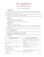 Giáo án Vật lí lớp 10 nâng cao