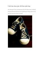 Cách lựa chọn giày thể thao phù hợp pdf