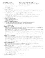 Đề cương ôn thi học kỳ I lớp 10 - môn Hóa pdf