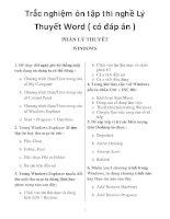 trắc nghiệm ôn tập thi nghề lý thuyết word ( có đáp án )_1