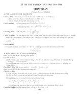 Đề thi thử đại học - cao đẳng môn Toán năm 2011 - đề số 5 pdf