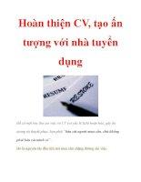 Hoàn thiện CV, tạo ấn tượng với nhà tuyển dụng doc
