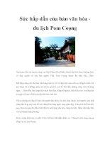 Sức hấp dẫn của bản văn hóa du lịch Pom Coọng ppt