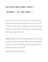 "Sự khác nhau giữa ""other"", ""another"", và ""the other"" ppt"