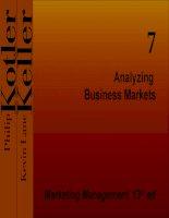 Analyzing Business Markets pptx