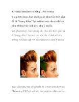 kỹ thuật nhuộm tóc bằng photoshop