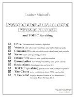 teacher michaels pronunciation practice & speaking test