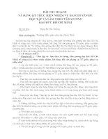 bài thu hoạch và đăng ký thực hiên 2 chuyên đề học tập và lam theo tấm gương đ HCM