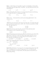 Bài tập toán xác suất thống kê