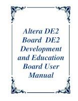 Altera DE2 Board DE2 Development and Education Board User Manual pdf