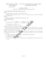 Tuyển tập đề thi vào 10 môn Toán Tỉnh Nghệ An (1999 -2010)