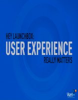 Hey Launch Box: User Experience really matters