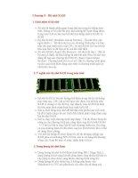 Giáo trình Tin học đại cương - Chương 5 - Bộ nhớ RAM ppsx